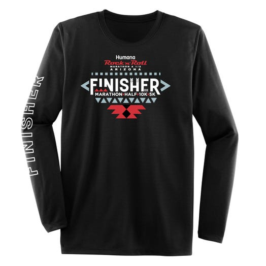 ROCK N ROLL MARATHON SERIES ARIZONA 2020 MEN'S LONG SLEEVE FINISHER TEE